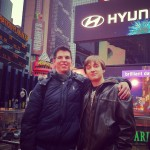 Meeting my old friend at Times Square