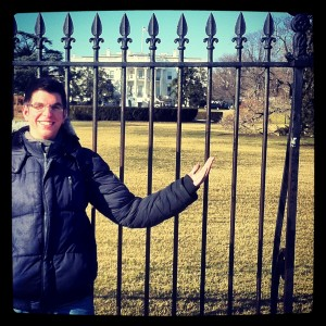 Me in front of the White House