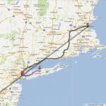 Map of my trip -> northeast
