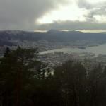 Blick vom Fløyen über Bergen